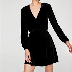 ZARA velvet dress size M